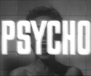 Psycho, black and white, and movie image