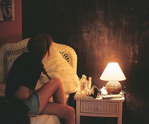 girl and dark image