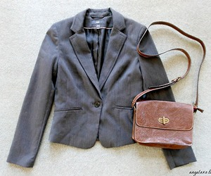 bag, blazer, and thrift image