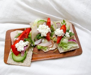 bed, dinner, and food image