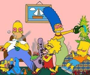 simpsons, weed, and smoke image