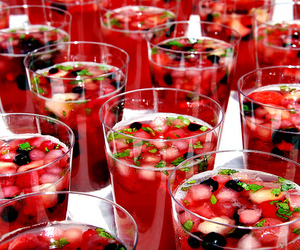 drink, fruit, and red image