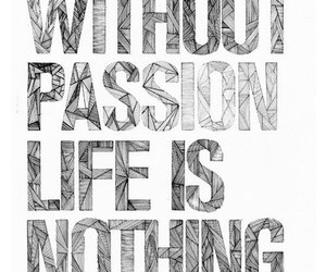 passion, life, and quote image