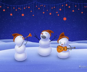 music, snowman, and snow image