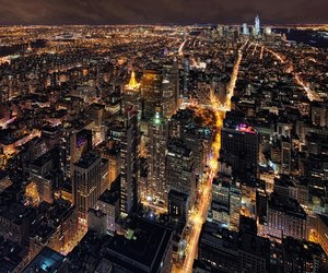 at night, city, and clear image