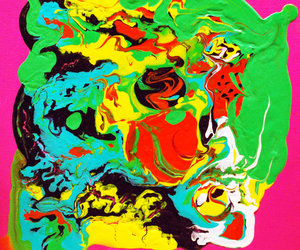 abstract, acrylic, and bright image