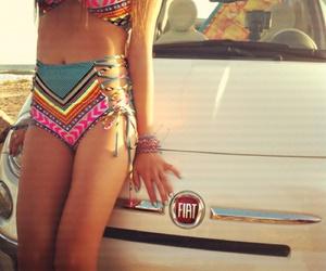 bikini, summer, and car image