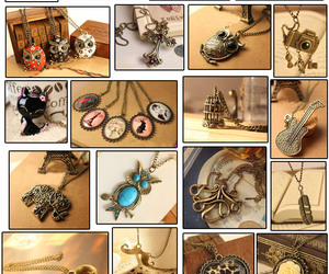 necklace, vintage, and love image
