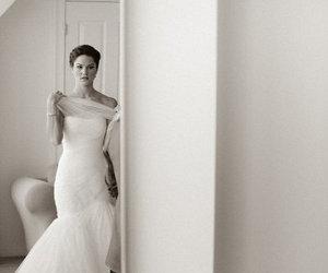 bridal, wedding, and dress image
