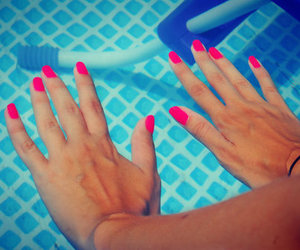 hand, pool, and nails image