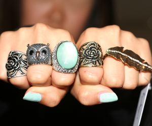 rings, nails, and owl image