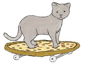cat, transparent, and pizza image
