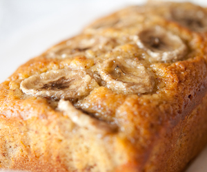 banana bread, bread, and food image