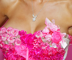 pink, Playboy, and necklace image