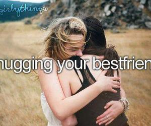 hug, best friends, and friends image