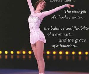 ballerina, ice, and quote image