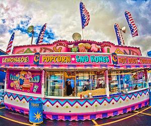 popcorn, pink, and fun image