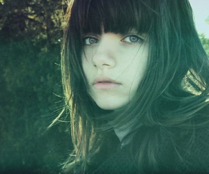 girl, ponycut, and pretty image