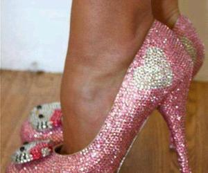 pink, hello kitty, and heels image