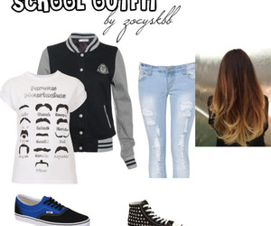 baseball jacket, casual, and converse image