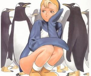 girl, kawaii, and pinguim image