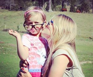 girl, glasses, and little image