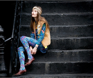 Iekeliene Stange, steps, and tights image