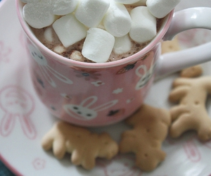 marshmallow, hot chocolate, and Cookies image