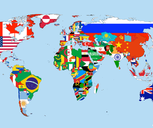 world and flags image