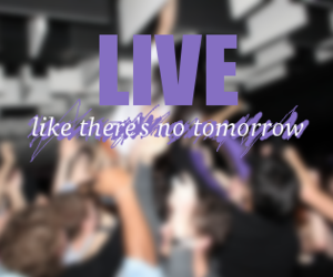 Best, live, and typography image