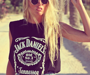 girl, fashion, and jack daniels image
