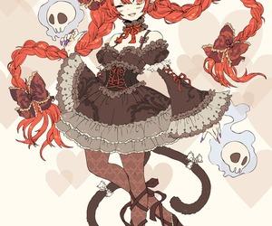 animal ears, demon, and lolita dress image