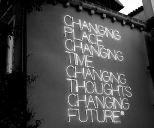 future, change, and changing image