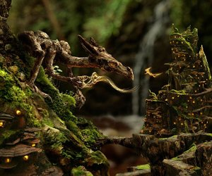 dragon, forest, and fantasy image