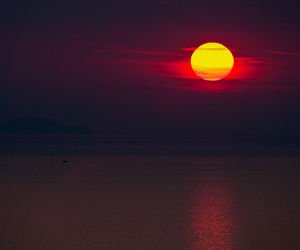 sun, sunset, and photography image