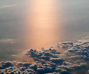 sky, beautiful, and sun image