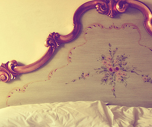 bed, flowers, and vintage image