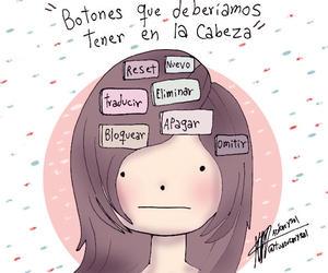 botones, cabeza, and woman image