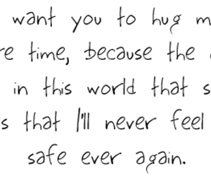 hug, text, and quote image