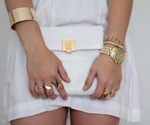 bag, clutch, and bracelet image