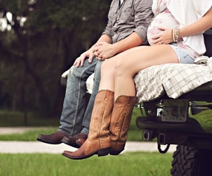 country, pregnant, and sunset image