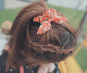 hair, bow, and cool image
