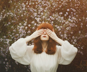 flowers, florence welch, and vintage image