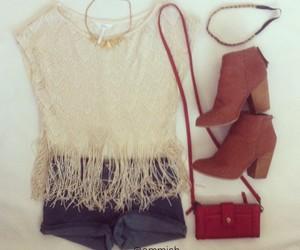 bag, coat, and dress image