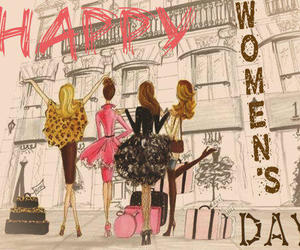 girl, happy, and march image
