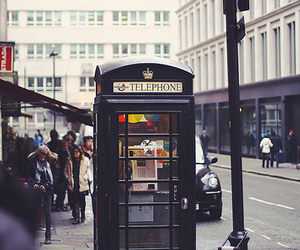 london, telephone, and street image