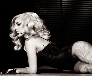 black and white, I Love You, and Lady gaga image