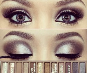 makeup, naked, and pallette image