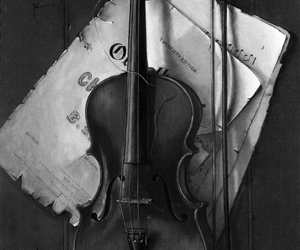violin, music, and Paper image