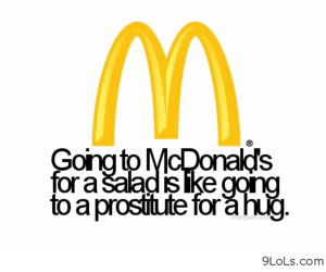 McDonalds, funny, and salad image